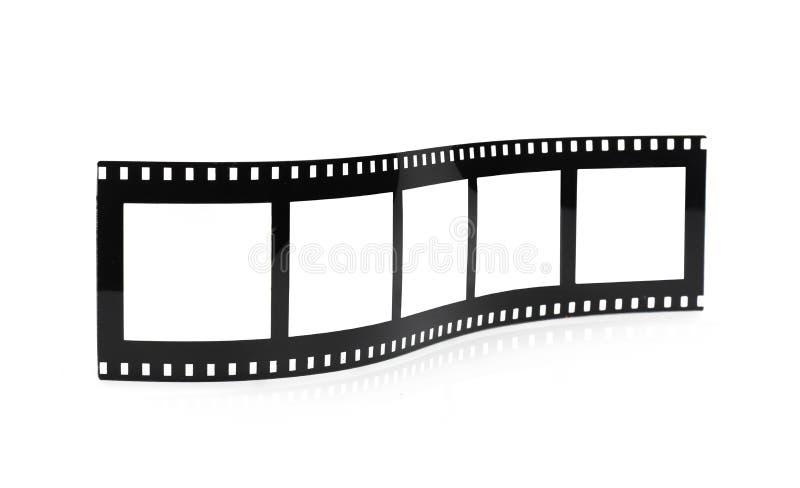 De oude lege spot van het de filmbroodje van het fotokader omhoog stock afbeeldingen