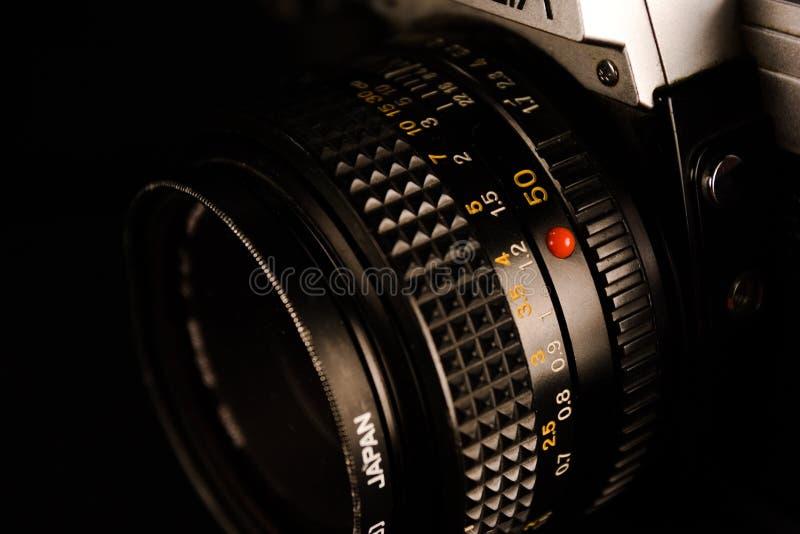 De oude Lens van de Camera royalty-vrije stock afbeeldingen