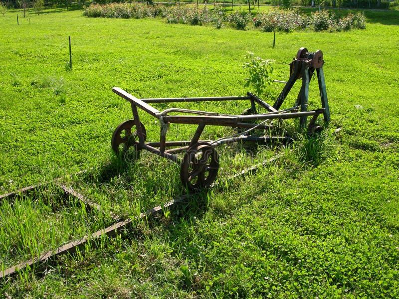 De Oude Machine Van De Weg Van Het Spoor Royalty-vrije Stock Afbeelding