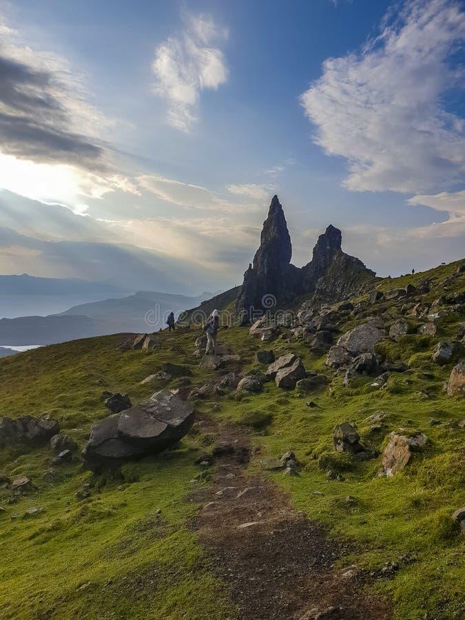 De Oude Man van Stor in de herfst - Eiland van Skye, Schotland royalty-vrije stock foto