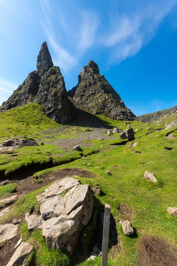 De Oude Man van Storr, Eiland van Skye stock foto's
