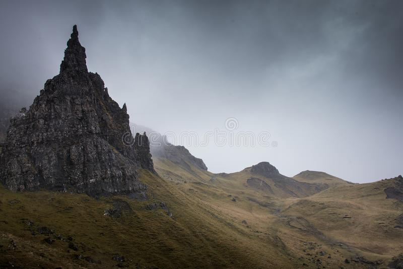 De Oude Man van Storr op het Eiland van Skye in Schotland stock foto's