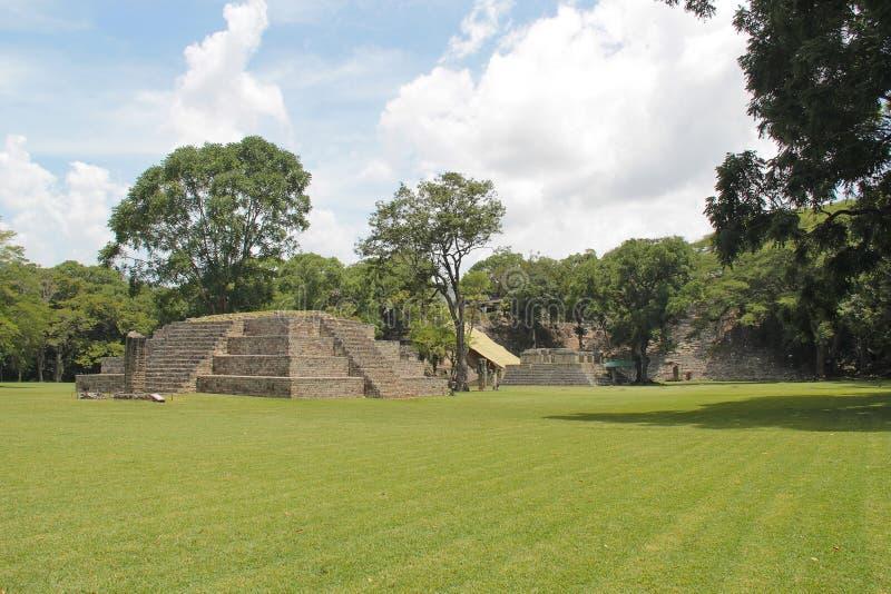 De oude Mayan archaelogical plaats van Copan, in Honduras, Unesco-Werelderfenis royalty-vrije stock foto's