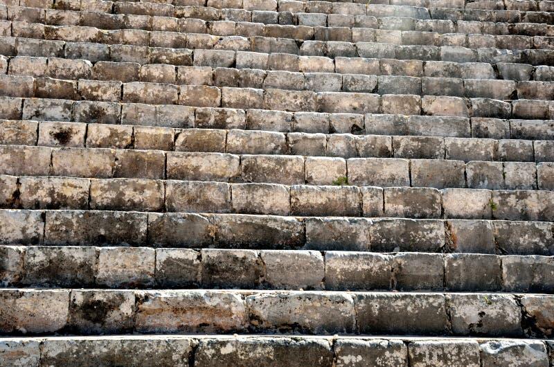 De oude mayan steentrap chichen Itza stock fotografie
