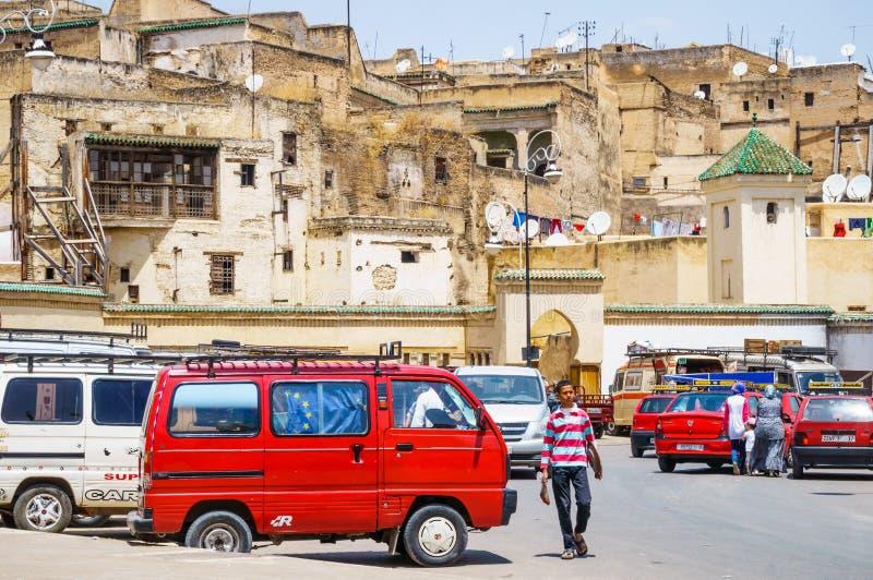 De oude Medina straat van Fez, Marocco royalty-vrije stock fotografie