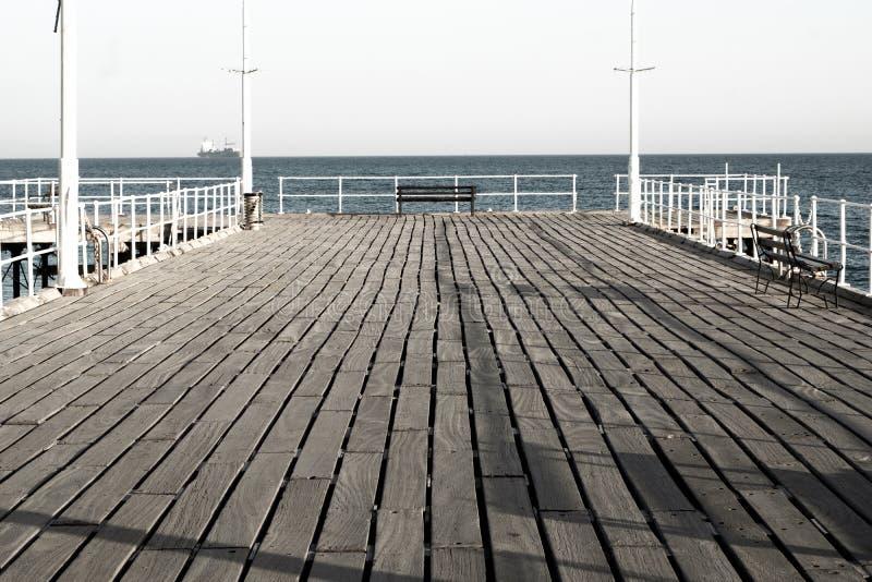 De oude Mening Limassol van de havenpijler royalty-vrije stock fotografie
