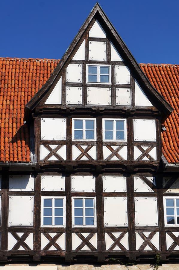 De oude middeleeuwse bouw in Quedlinburg, Duitsland royalty-vrije stock fotografie