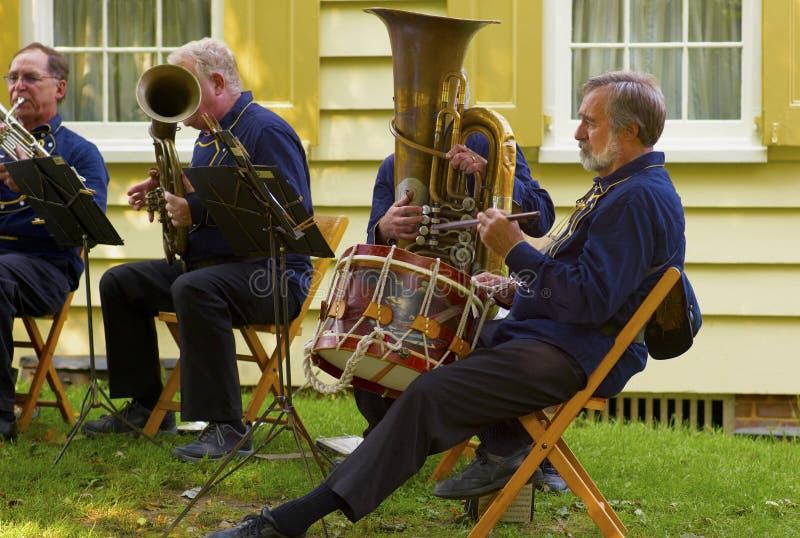 De oude Militaire Band van Tijdopnemers stock afbeelding