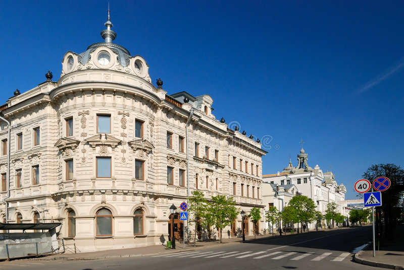 De oude mooie bouw in Kazan royalty-vrije stock fotografie