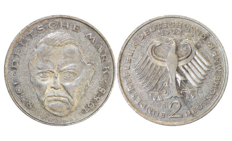 De oude muntstukken van landen `, jaar 1976, Duitsland royalty-vrije stock foto's