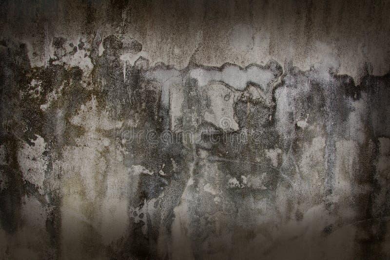 De oude muren met donkere bruine schaduwen royalty-vrije stock foto's