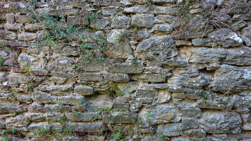 De oude muur van de de 16de eeuwsteen royalty-vrije stock foto
