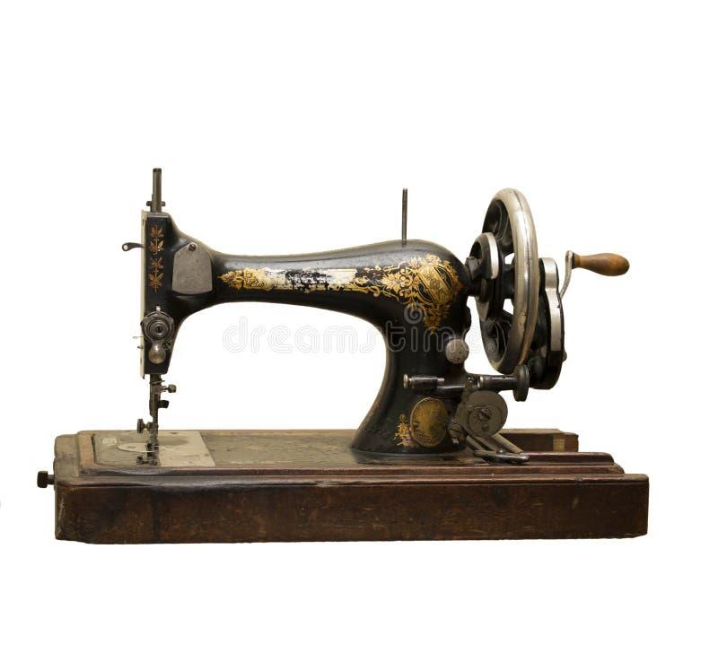 De oude naaien-machine stock afbeeldingen