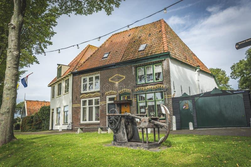 De oude Nederlandse havenbouw royalty-vrije stock afbeelding
