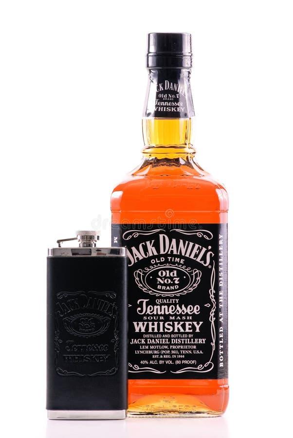 De Oude Nr 7 Whisky van Jack Daniels stock afbeeldingen