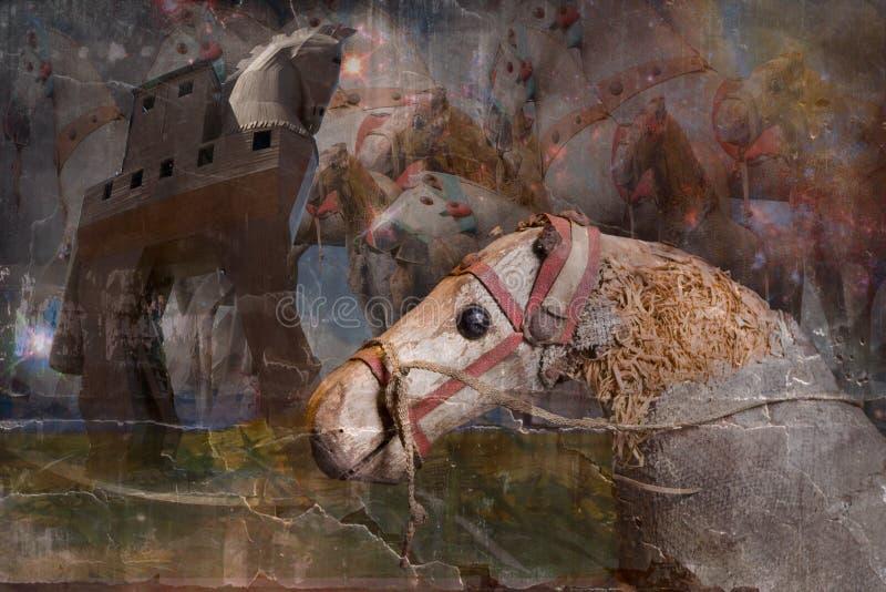 De oude paarden. royalty-vrije stock foto