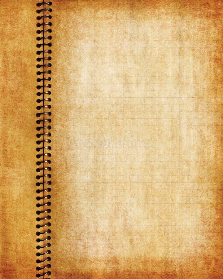 De oude pagina van het grungenotitieboekje royalty-vrije illustratie