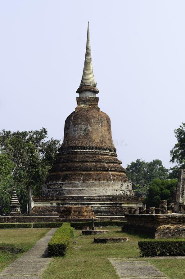 De oude pagoderuïnes stock foto