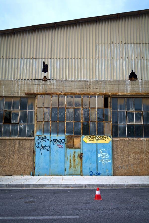 De oude pakhuisbouw stock foto