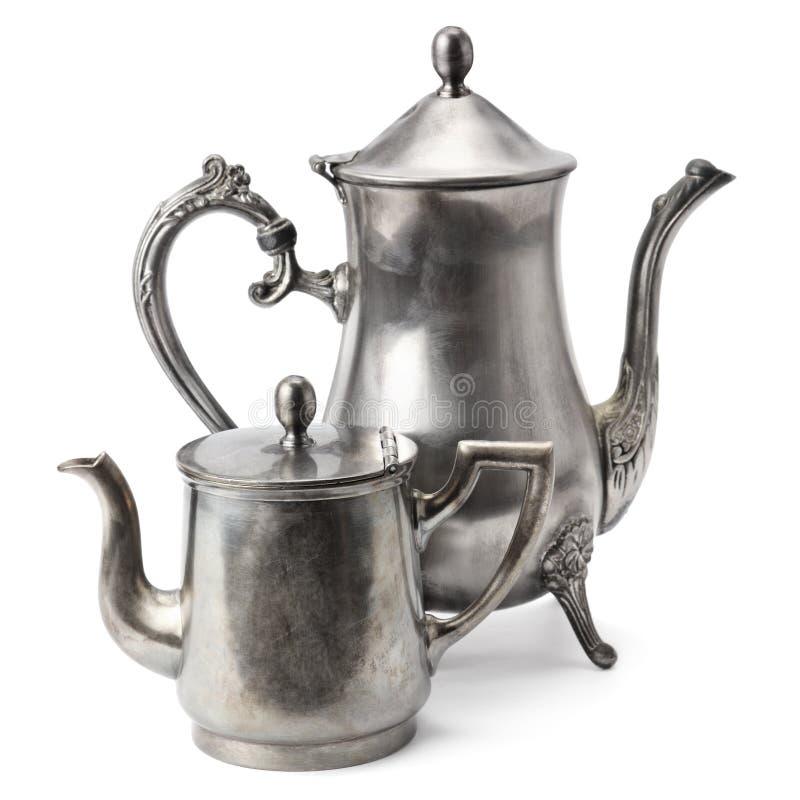 De oude Pot van de Koffie royalty-vrije stock fotografie