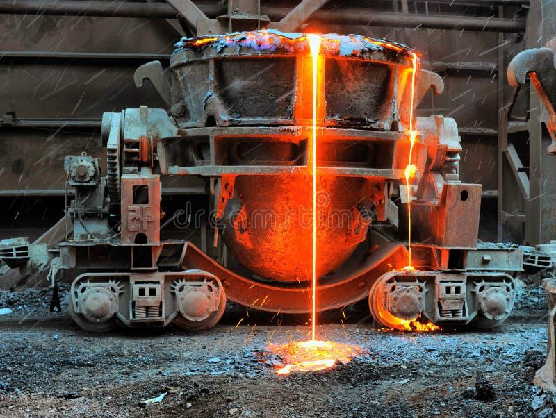 De oude potten van de slakkenverwijdering opgezet op spoorwegplatforms in ontploffingsbont royalty-vrije stock foto