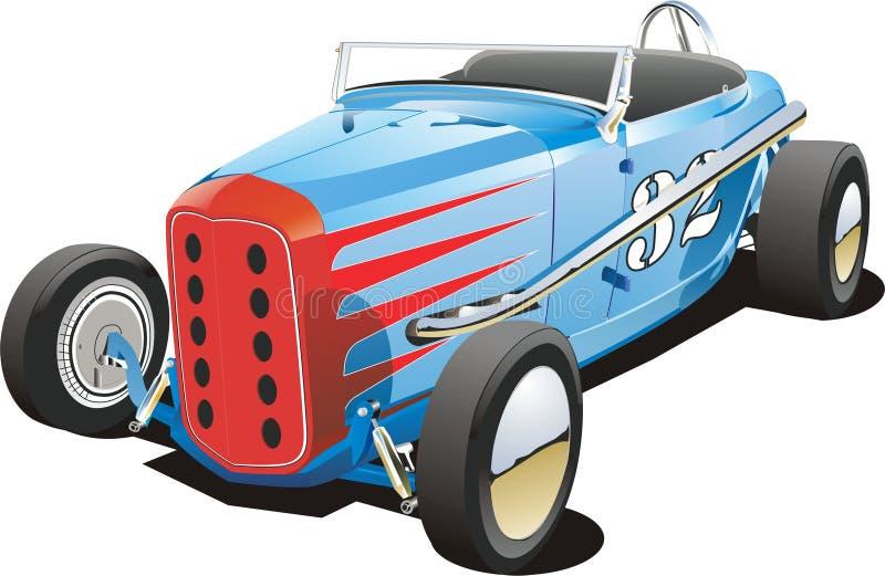 De oude raceauto van het vuilspoor royalty-vrije illustratie