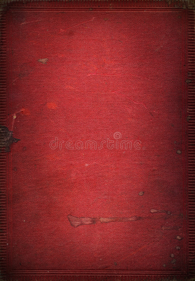 De oude rode textuur van het leerboek stock foto's