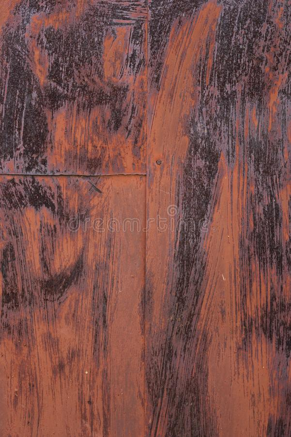 De oude roestige achtergrond van de ijzertextuur schilderde bruin Corrosie van me stock foto's