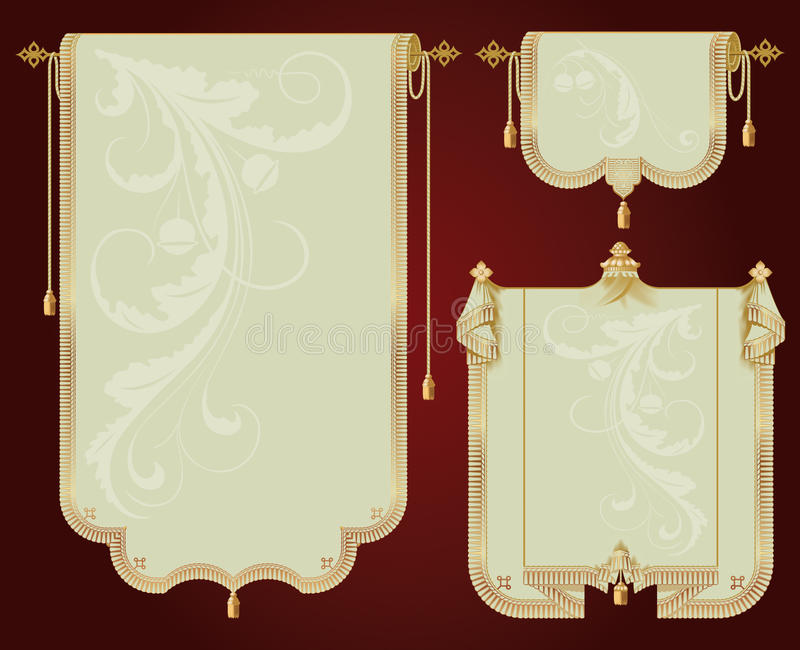 De oude rollen royalty-vrije illustratie