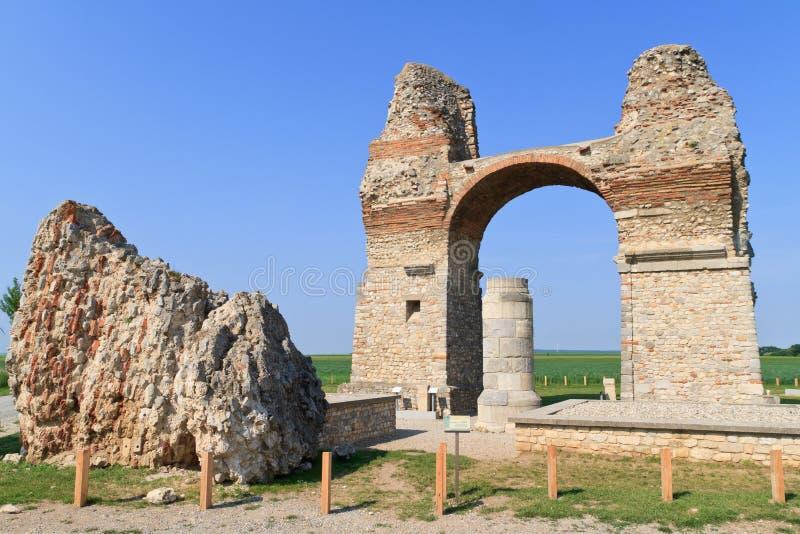 De oude Roman Poort van de Stad (Heidentor) royalty-vrije stock afbeeldingen