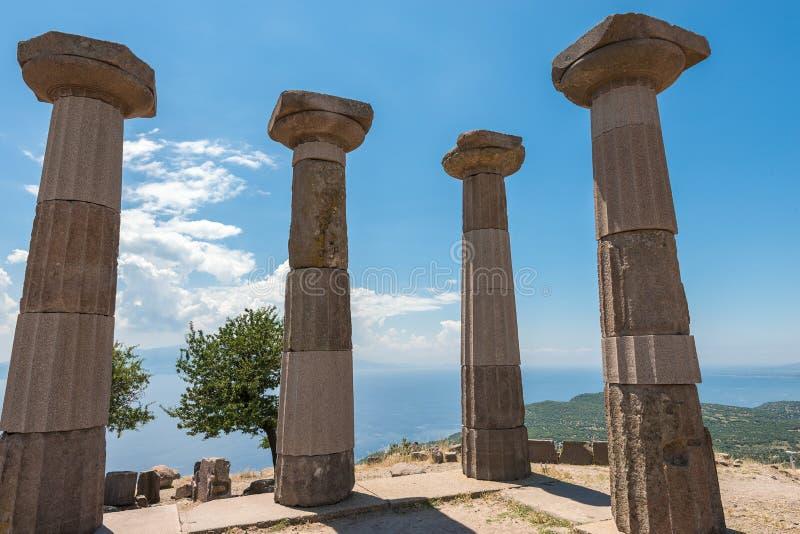 De oude ruïnes van Assos royalty-vrije stock afbeelding