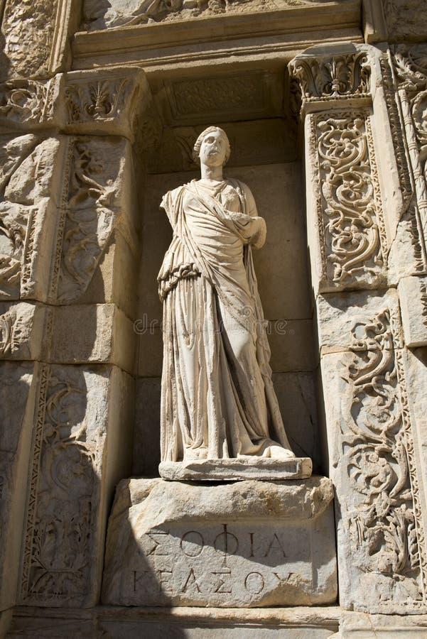 De Oude Ruïnes Van De Stad Van Ephesus, Reis Aan Turkije Royalty-vrije Stock Afbeeldingen