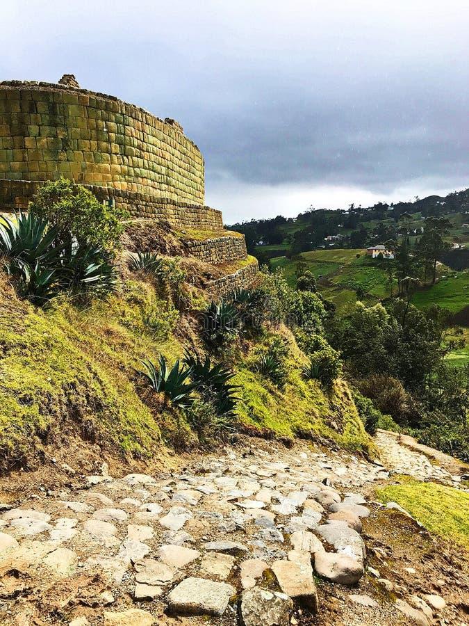 De Oude Ruïnes van Ingapirca, Ecuador royalty-vrije stock afbeeldingen