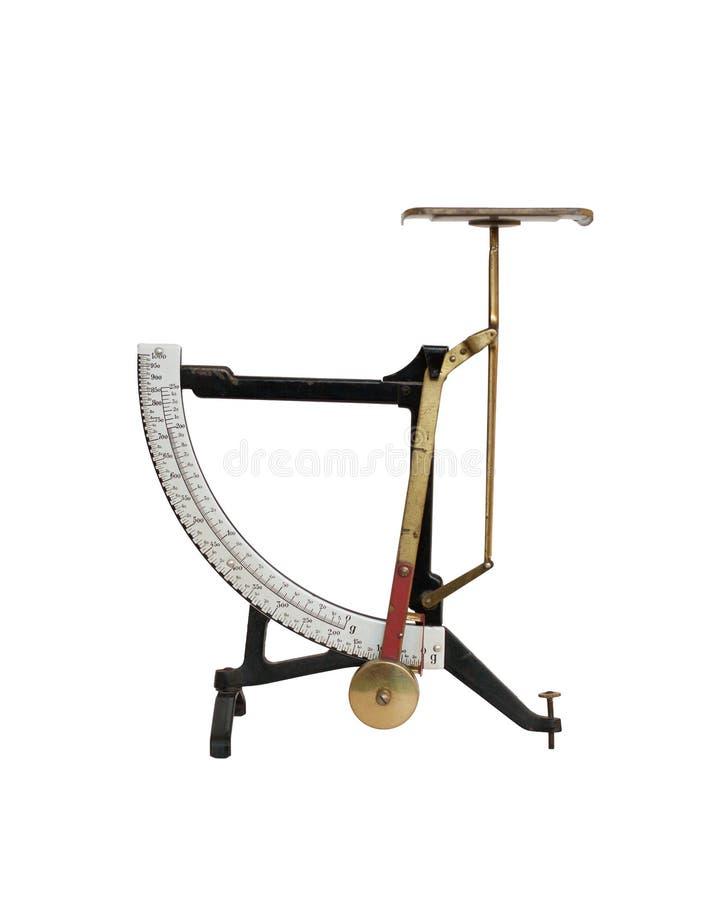 De oude Schaal van het Gewicht stock foto