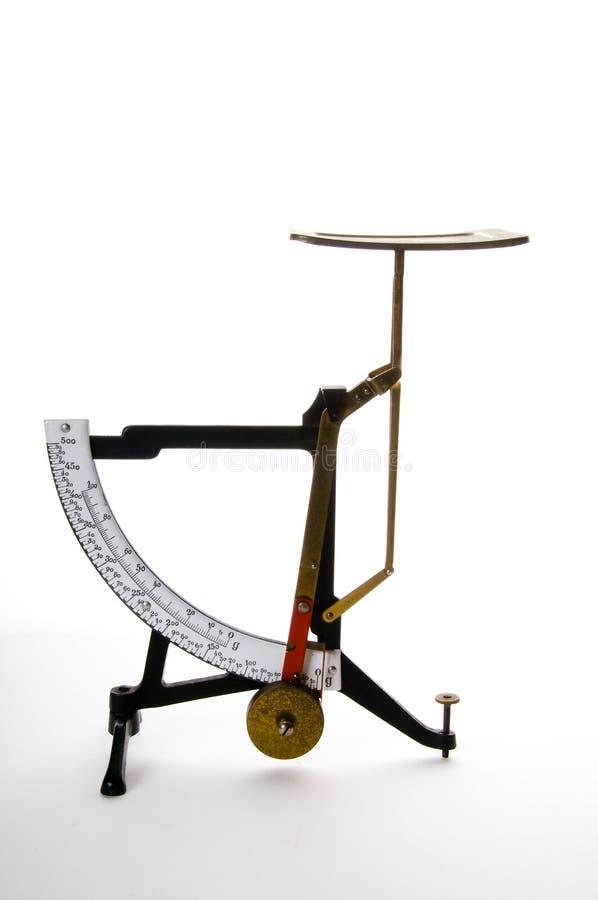 De oude Schaal van het Gewicht stock afbeelding