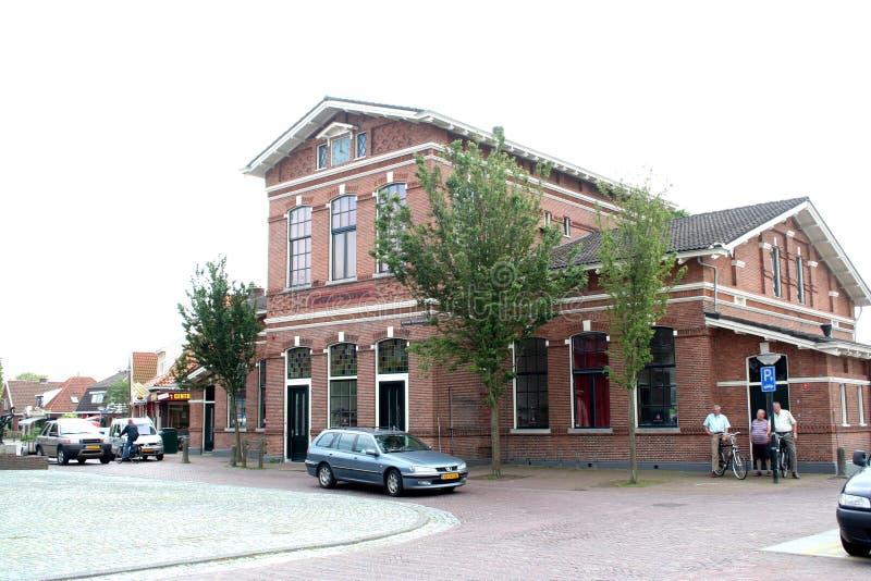 De oude schoolbouw stock afbeelding