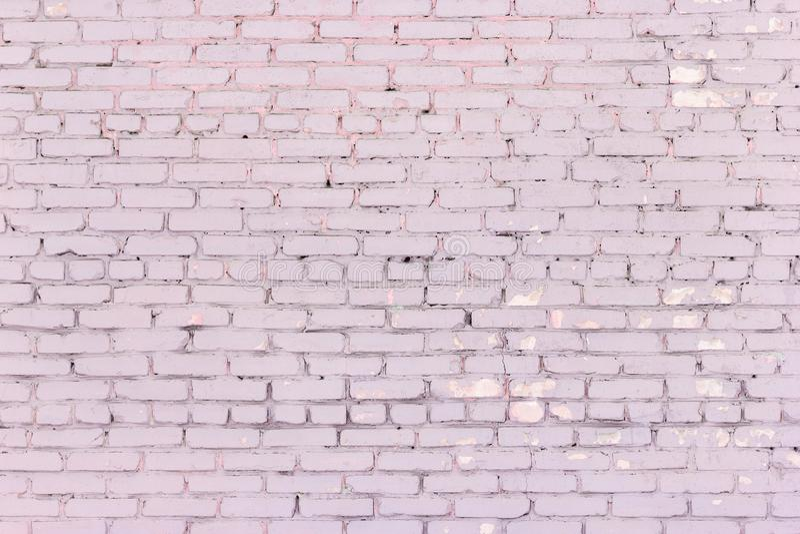 De oude sjofele stoffige bakstenen muur nam kleurentextuur toe stock fotografie