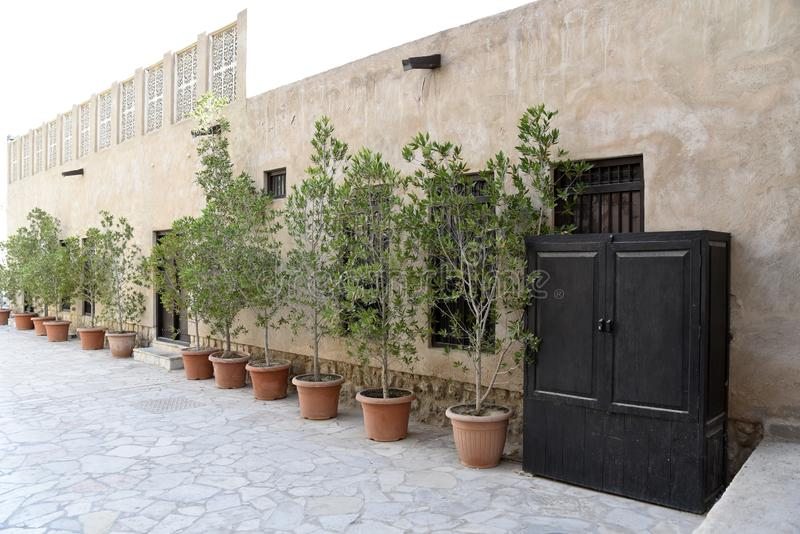 De Oude Souq Buurt van Al Fahidi Historical en van Doubai, Doubai, Verenigde Arabische Emiraten royalty-vrije stock foto's