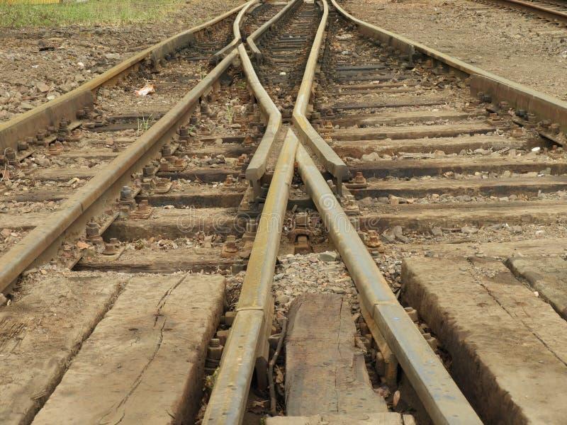 De oude spoorwegsporen royalty-vrije stock foto