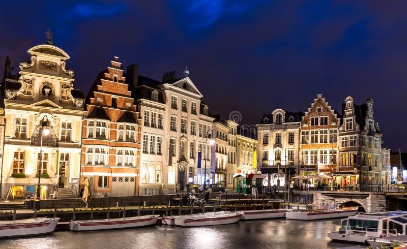 De Oude stad België van Gent royalty-vrije stock foto's