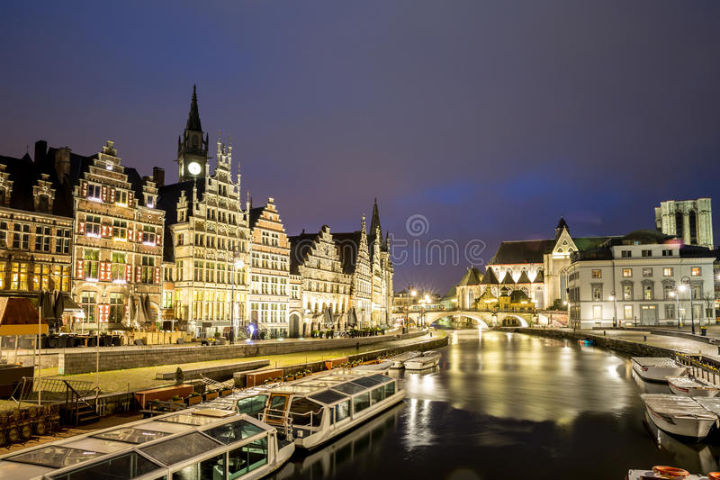 De Oude stad België van Gent royalty-vrije stock foto