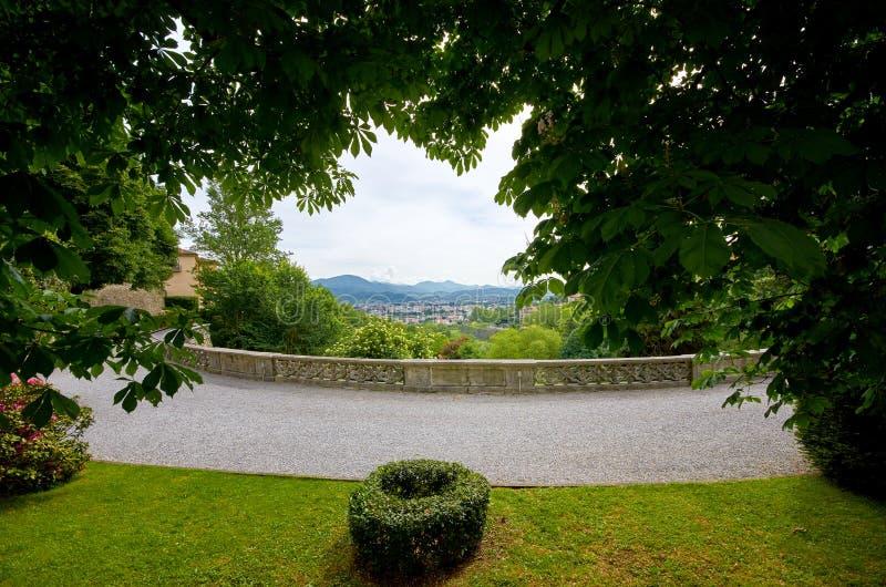 De oude stad Bergamo van de werelderfenis in Italië royalty-vrije stock fotografie