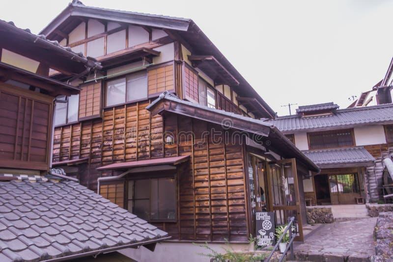 De oude stad of de oude gebouwen van Magome in de Prefectuur van Nagano, royalty-vrije stock fotografie