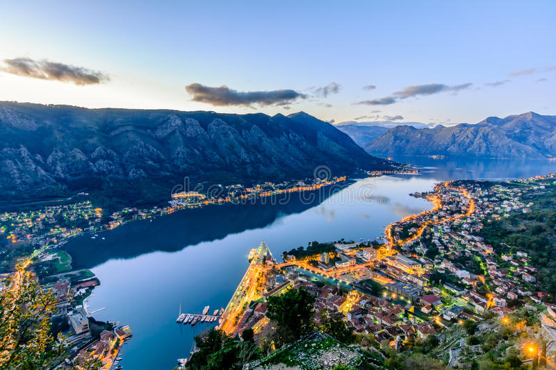 De oude stad Kotor royalty-vrije stock foto's