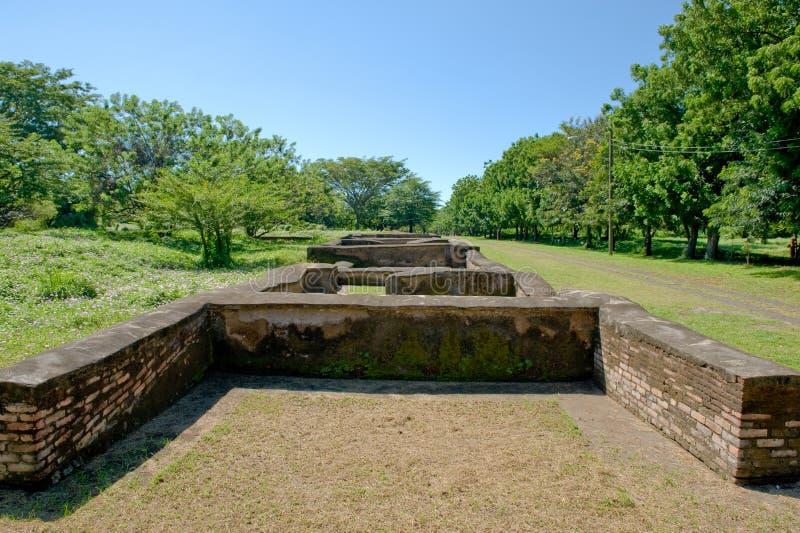 De oude stad Leon ruïneert Nicaragua royalty-vrije stock foto's