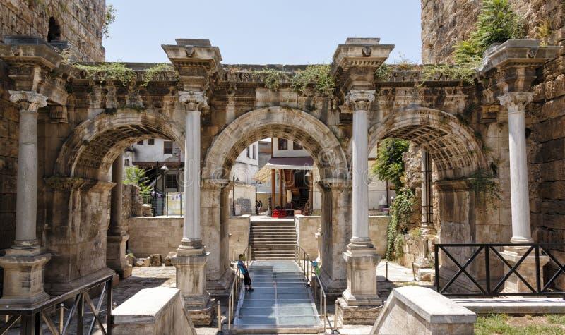De oude stad van Antalya stock afbeelding