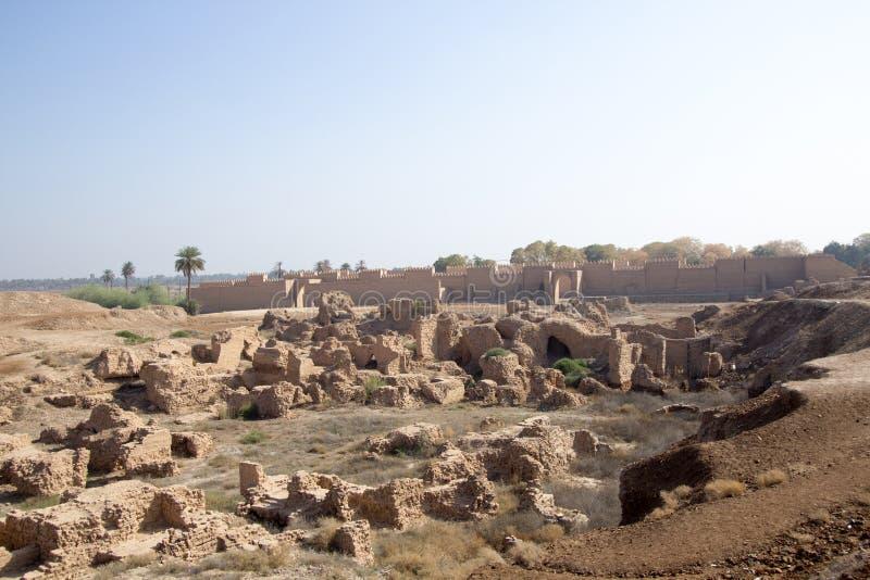 De oude stad van Babylon stock afbeeldingen
