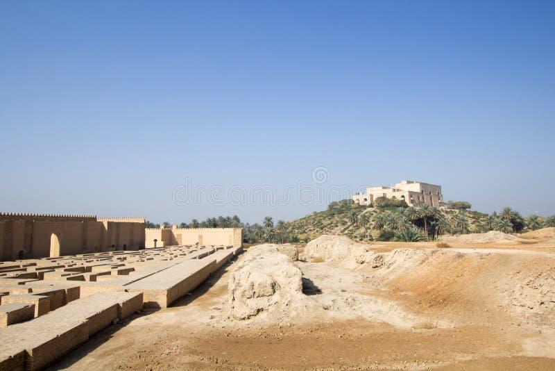 De oude stad van Babylon royalty-vrije stock afbeelding