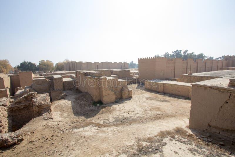 De oude stad van Babylon stock afbeelding