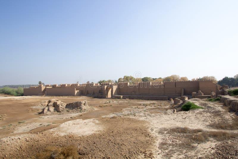 De oude stad van Babylon stock foto's